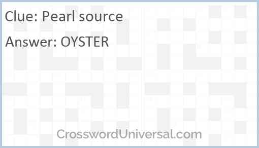 Pearl source Answer