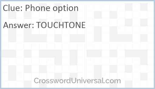 Phone option Answer