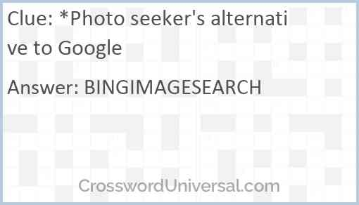 *Photo seeker's alternative to Google Answer