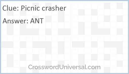 Picnic crasher Answer