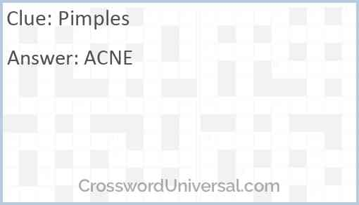 Pimples Answer