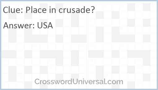 Place in crusade? Answer