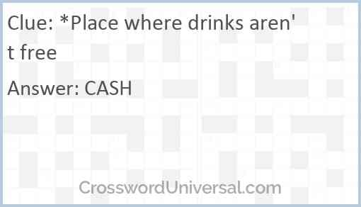 *Place where drinks aren't free Answer