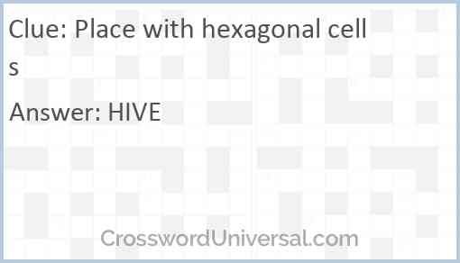 Place with hexagonal cells Answer