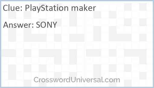 PlayStation maker Answer