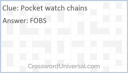 Pocket watch chains Answer