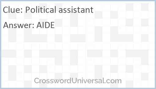 Political assistant Answer