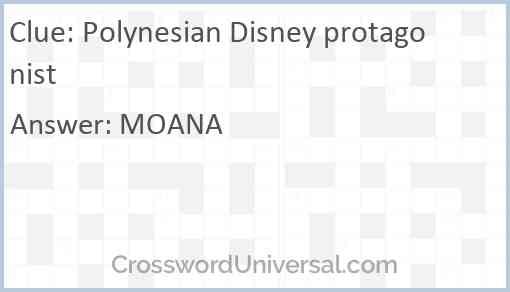 Polynesian Disney protagonist Answer