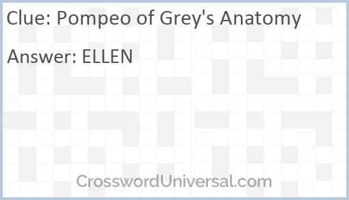 Pompeo of Grey's Anatomy Answer