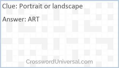 Portrait or landscape Answer