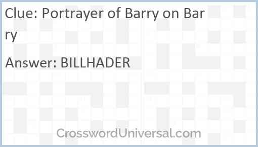 Portrayer of Barry on Barry Answer