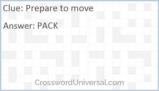 Prepare to move Answer