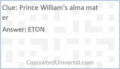 Prince William's alma mater Answer