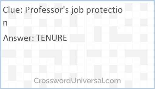 Professor's job protection Answer