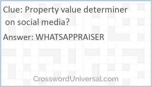 Property value determiner on social media? Answer