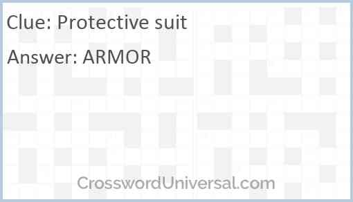 Protective suit Answer