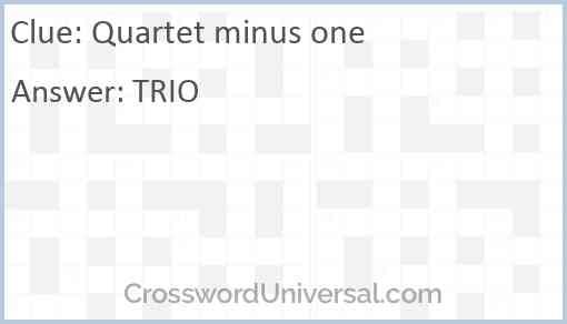 Quartet minus one Answer