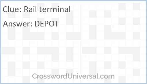 Rail terminal Answer
