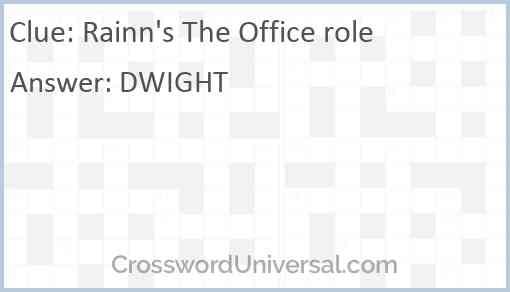 Rainn's The Office role Answer