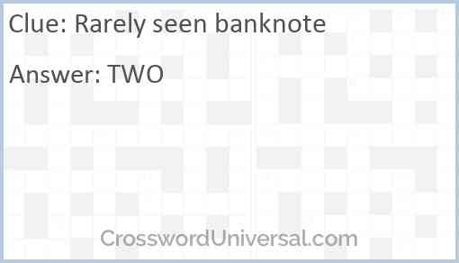 Rarely seen banknote Answer