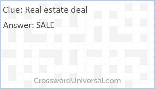 Real estate deal Answer