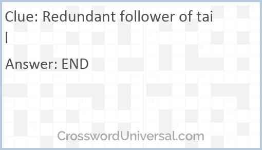 Redundant follower of tail Answer