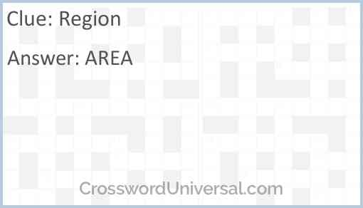 Region Answer