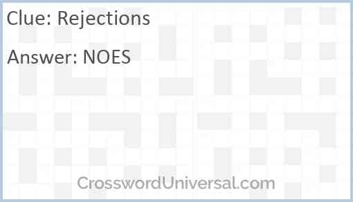 Rejections Answer