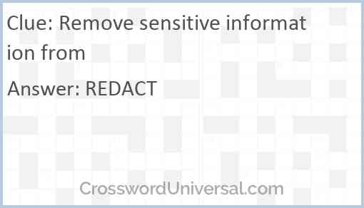 Remove sensitive information from Answer