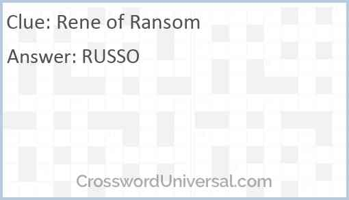 Rene of Ransom Answer