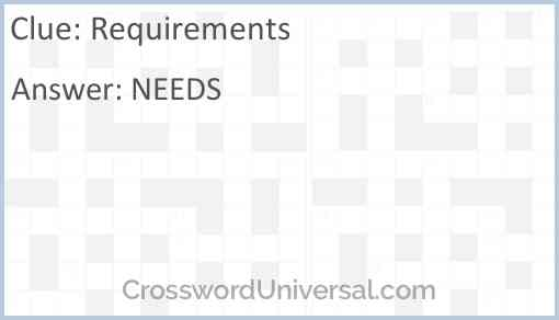 Requirements Answer