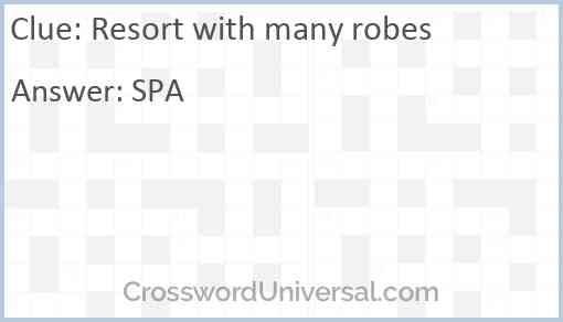 Resort with many robes Answer