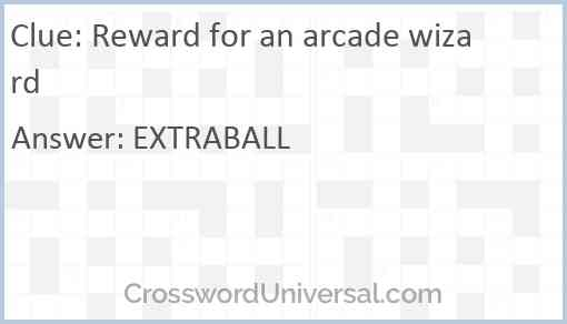 Reward for an arcade wizard Answer