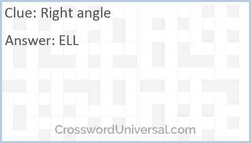Right angle Answer