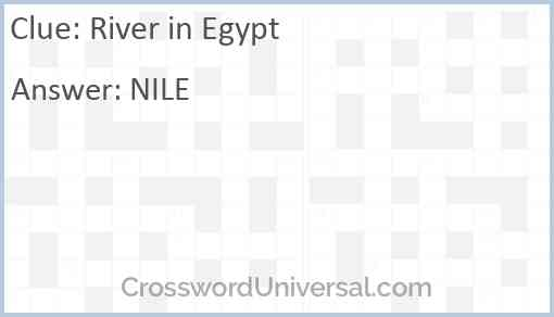 River in Egypt Answer