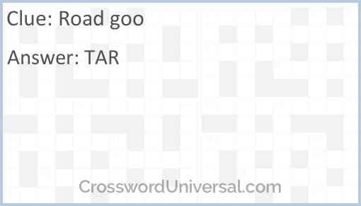 Road goo Answer