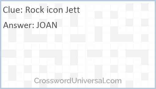 Rock icon Jett Answer