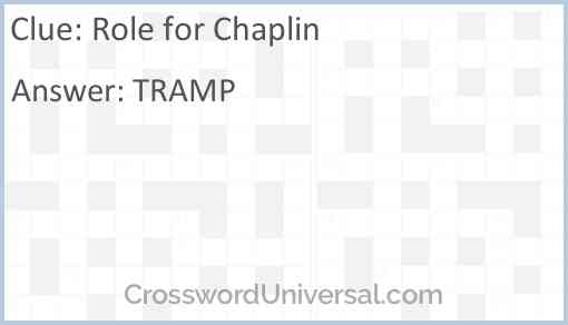 Role for Chaplin Answer
