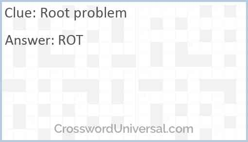 Root problem Answer