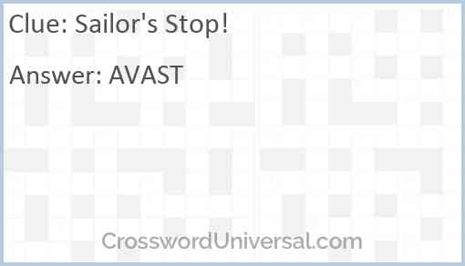 Sailor's Stop! Answer