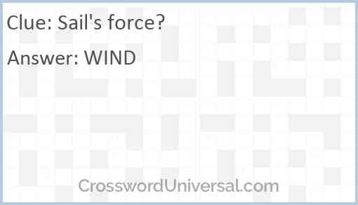 Sail's force? Answer