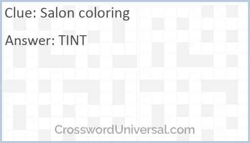 Salon coloring Answer