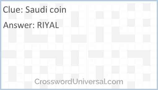 Saudi coin Answer