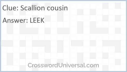 Scallion cousin Answer