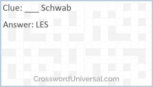 ___ Schwab Answer