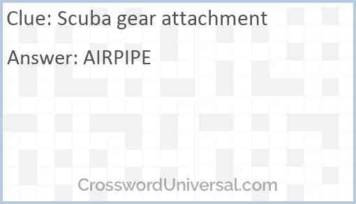 Scuba gear attachment Answer