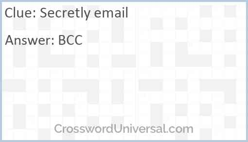 Secretly email Answer
