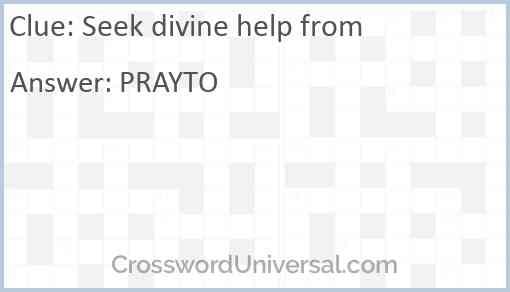 Seek divine help from Answer