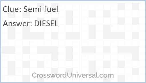 Semi fuel Answer
