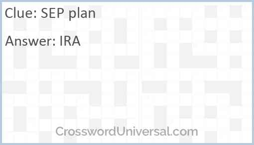SEP plan Answer